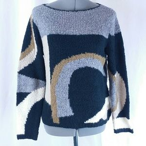 Rafaellla Vintage Wool Sweater Large Women's Shirt